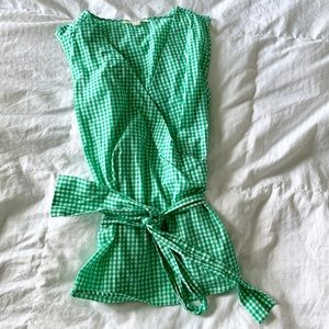 BEACHLUNCHLOUNGE green gingham wrap top